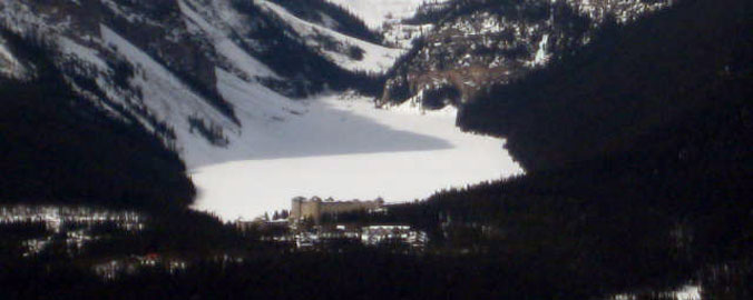 Albert Lake Louise in Winter